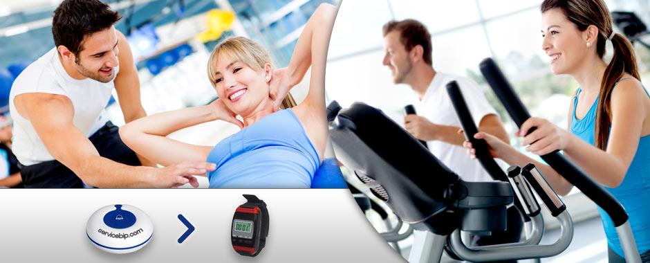 bouton d 39 appel sans fil pour clubs de sport gym fitness. Black Bedroom Furniture Sets. Home Design Ideas