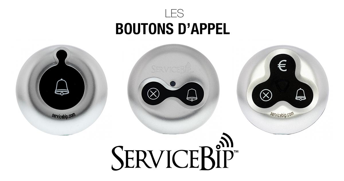 Boutons Appel Client ServiceBip