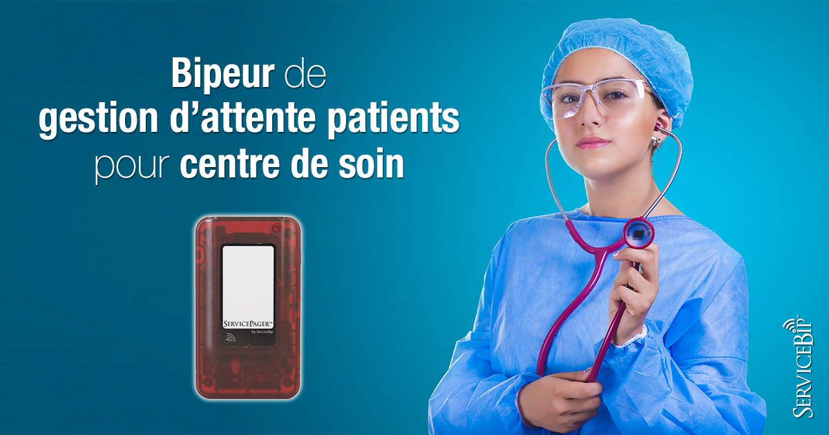 Bipeur gestion file d'attente patient