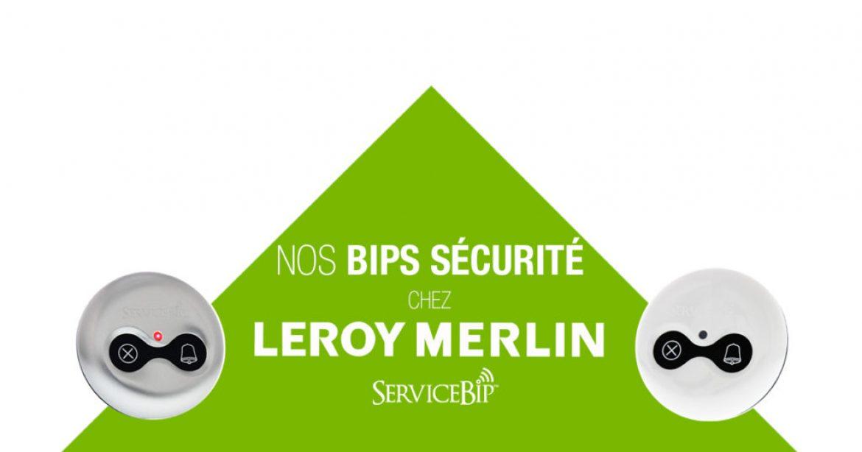 Les bips sécurité d'accueil chez Leroy Merlin