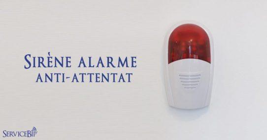 La sirène alarme attentat ServiceSiren™ dans les écoles