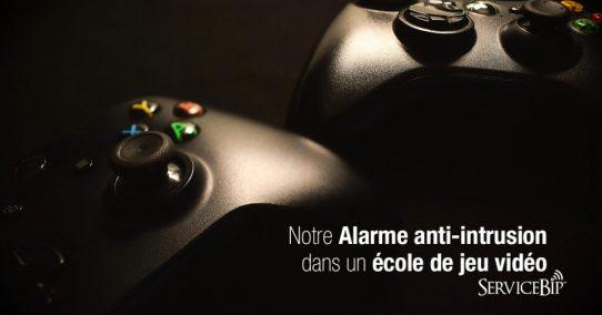 Notre alarme attentat intrusion dans une école de jeu vidéo