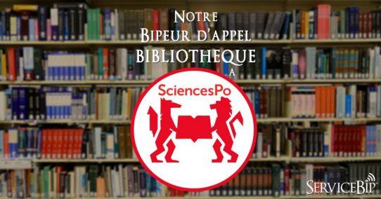 Notre beeper bibliothèque à Sciences Po