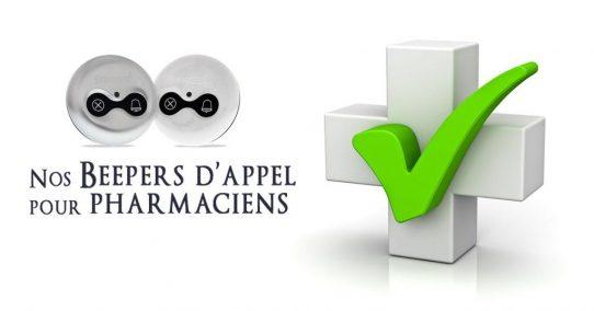 Nos beepers appel pharmacien et préparateur très utilisés