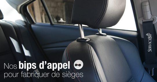 Nos bips d'appel auprès du fabricant de sièges de Renault