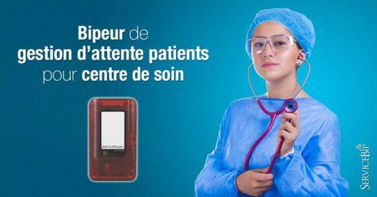 Notre bipeur de gestion attente patients en centre de soin