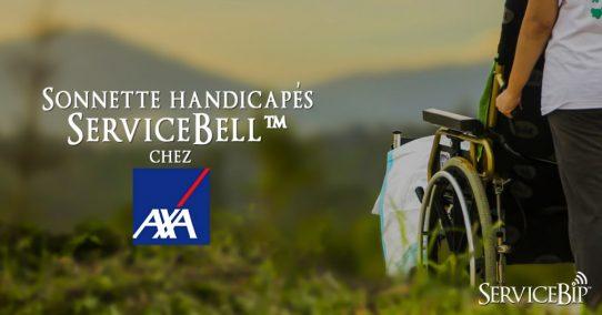 Notre sonnette handicapés ServiceBell™ chez AXA
